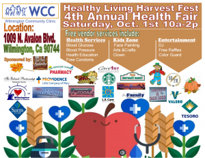 Healthy Living Harvest Fest 4th Annual Health Fair @ Wilmington Community Clinic  | Los Angeles | California | United States