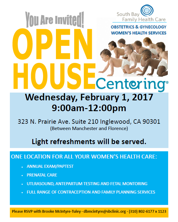 South Bay Family Health Center OB/GYN Services Open House @ South Bay Family Health Care | Inglewood | California | United States
