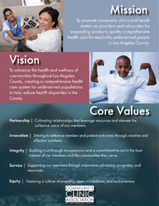 CCALAC Mission, Vision and Values