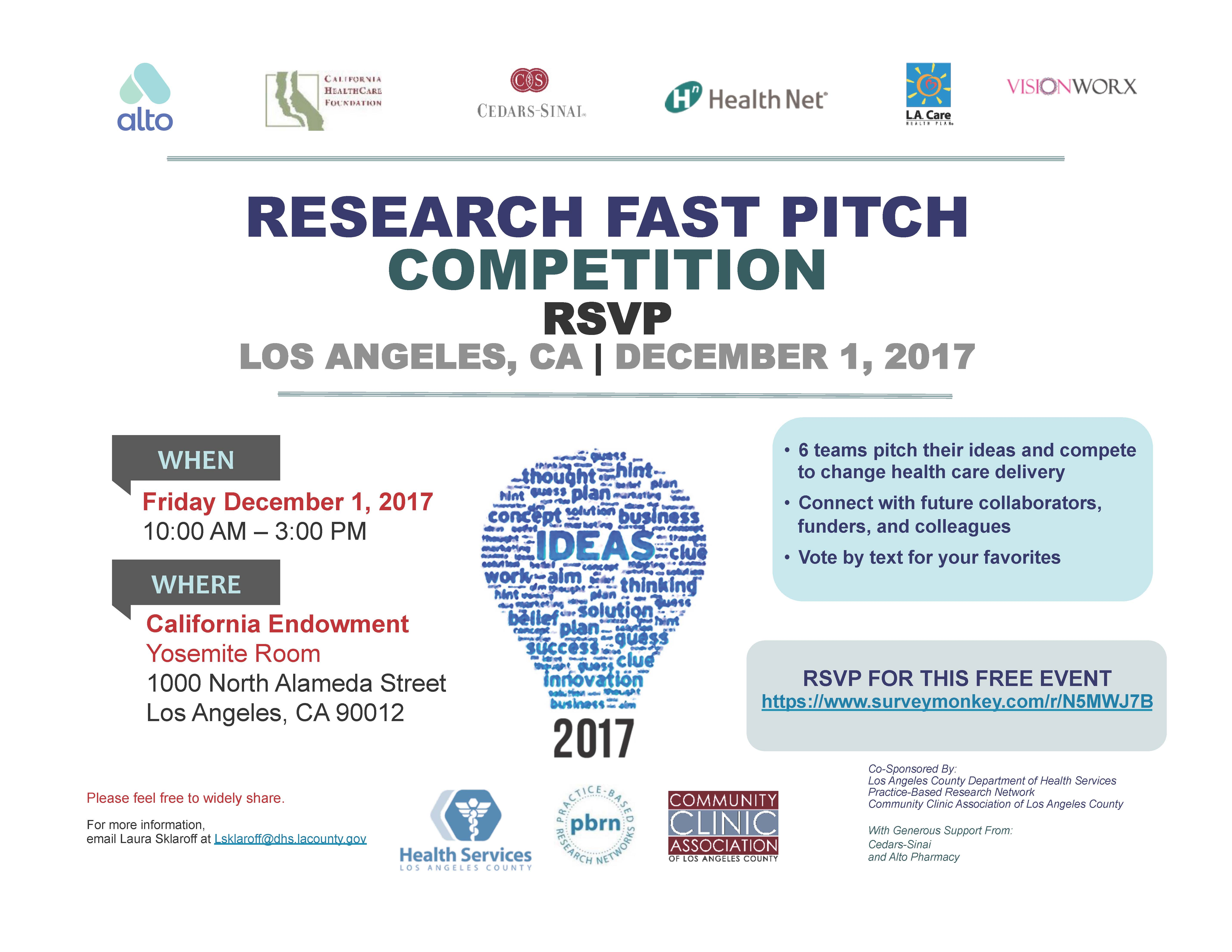 Research Fast Pitch @ California Endowment | Los Angeles | California | United States