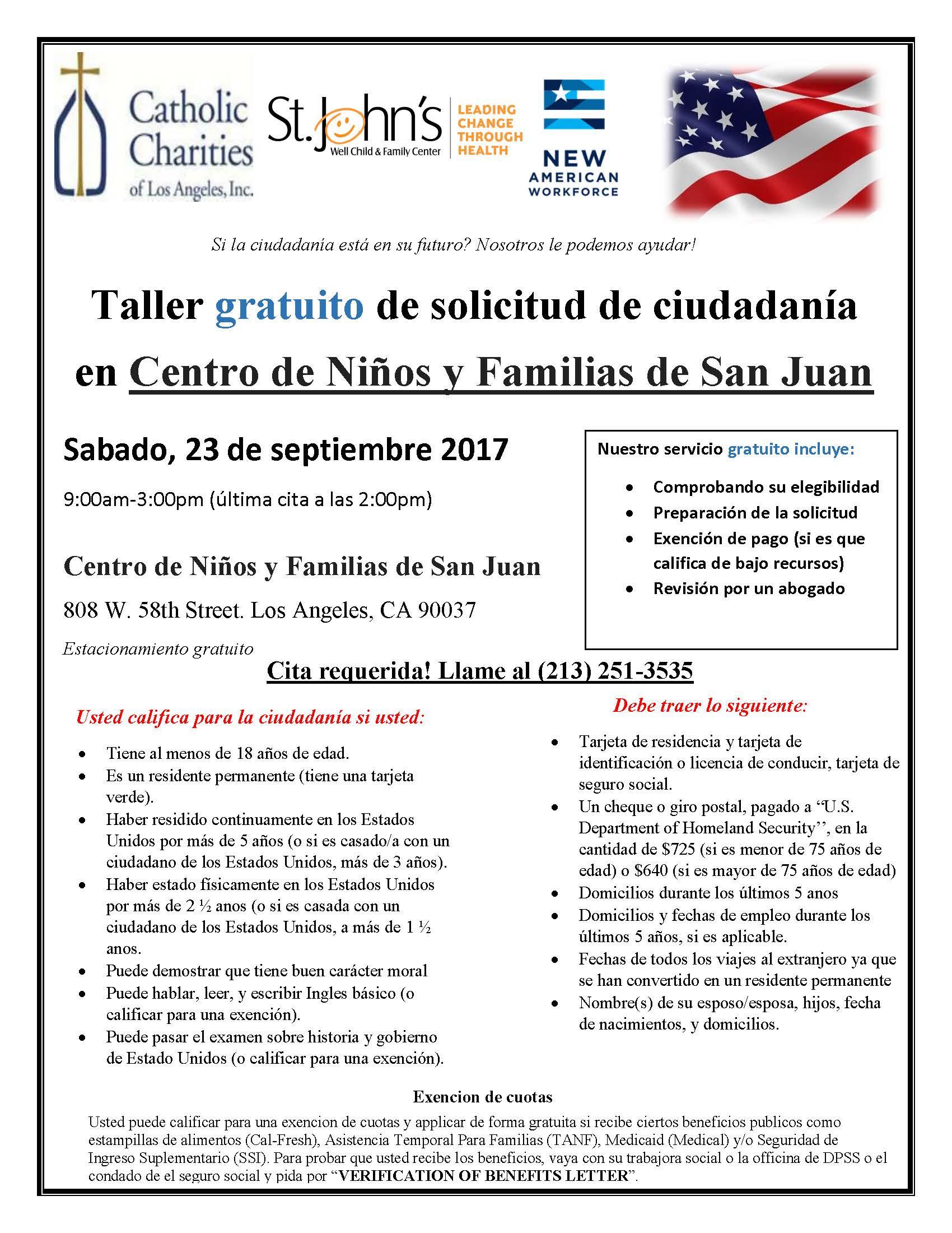 Citizenship Application Workshop - Community Clinic
