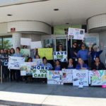 Valley Community Health Care held a mini rally at its site in the San Fernando Valley