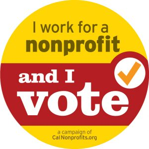 I work at a nonprofit and I vote