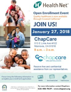 ChapCare Open Enrollment Event @ ChapCare | Monrovia | California | United States