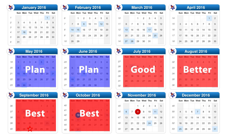 Voter Registration Planning Calendar 2016